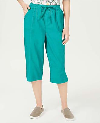 Karen Scott Womens Turquoise Pants Petites Size: PXL