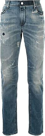 Rta Calça jeans skinny com detalhes puídos - Azul