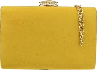 Girly HandBags Girly HandBags Elegant Suede Clutch Bag (Mustard)