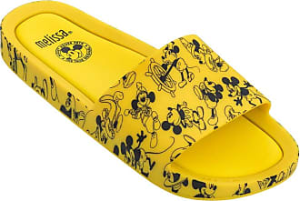 Melissa Beach Slide + Mickey And Friends (Amarela/Preta)
