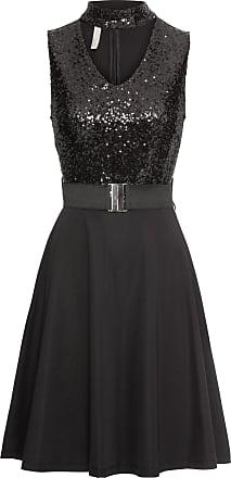 BODYFLIRT boutique Dam Aftonklänning med paljetter i svart utan ärm - BODYFLIRT  boutique ee2e2536de424