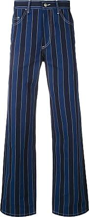 Ex Infinitas pinstripe flared jeans - Azul
