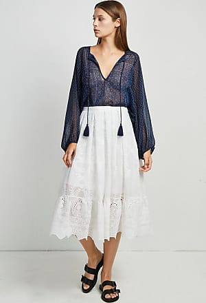 French Connection Camellia Lace Flared Skirt