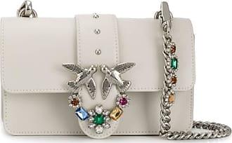 Pinko Womens Love Mini Jewels C Vitello Set Messenger Bag, White, 6x12.8x20.8 Centimeters (W x H x L)