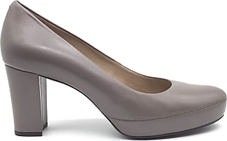 Unisa Dècolletè in Leather with Heel and Plateau.Non-Slip Sole,Color Grey. Grey Size: 8 UK