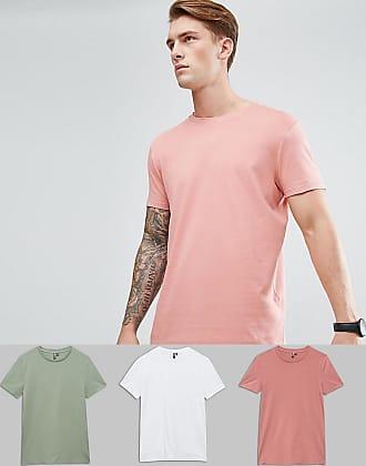 3f0f11c82cee5b Asos Confezione da 3 T-shirt girocollo lunghe - Risparmia - Multicolore