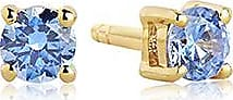Sif Jakobs Jewellery Earrings Princess Piccolo Round - 18k gold plated with blue zirconia