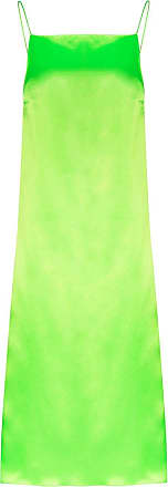 Kwaidan Editions Slip dress de cetim - Verde