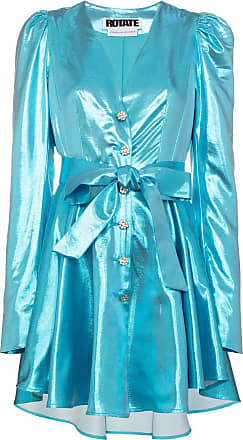 Rotate Vestido Emma com botões - Azul