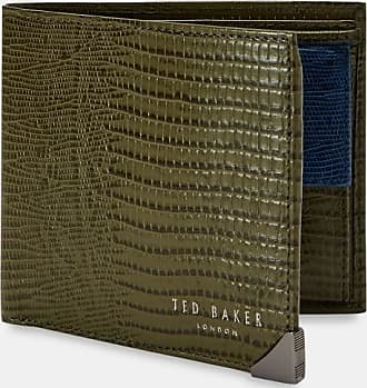 Ted Baker Exotic Print Coin Wallet in Olive THINLIZ, Mens Accessories