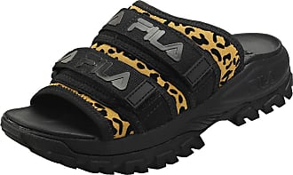 Fila Outdoor Animal Print Womens Slide Sandals in Black Leopard - 8 UK