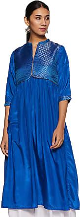 Aurelia Womens A-Line Kurta (18AUA10113-300063_Blue_X-Large)