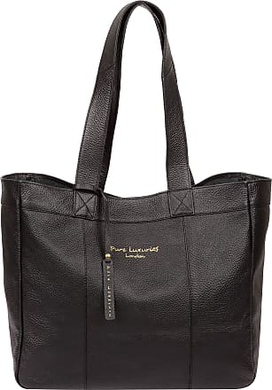 Pure Luxuries London Pure Luxuries London Melissa Womens 48cm Biodegradable Leather Tote Bag with Open Top Design, Unlined Central Compartment and Matching Leather Carry H