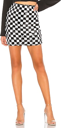 X by NBD Tom Embellished Skirt in Black & White