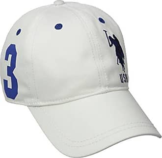 U.S.Polo Association Womens Number Three Baseball Hat, White One Size