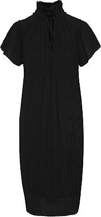 Opening Ceremony Opening Ceremony Woman Plissé-georgette Dress Black Size 10