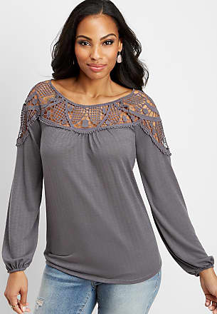 bebbde02fdf03 Maurices Crocheted Knit Peasant Top