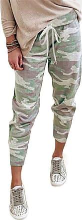 QIYUN.Z Women Camouflage Long Pants Camo Cargo Trousers Casual Summer Pants Camouflage 2XL