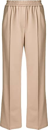 Goodious wide-leg elasticated waist trousers - Marrom