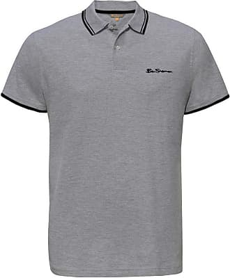 Ben Sherman Mens Classic Short Sleeve Pique Casual Smart Polo M Grey