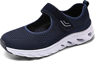 Generic Women Flats Breathable Casual Comfortable Shoes Mary Jane Female Ladies Sneakers Blue
