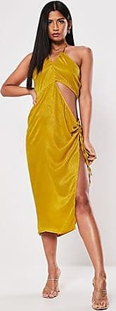 Missguided Cutout Halter Dress at Forever 21 Mustard