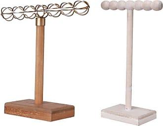 A & B Home Wood and Iron Jewelry Stands - Set of 2 - 43068