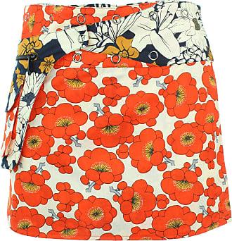 Loud Elephant Reversible Popper Wrap Mini Skirt - Floral/Japanese Floral