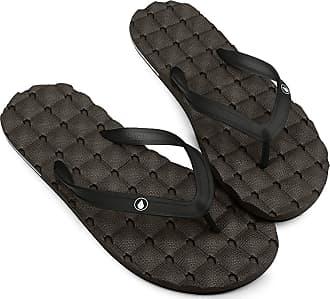 Volcom 11 Men/'s Rocker Sandal Black Red Surf Flip Flops Sandals Shoes NWT