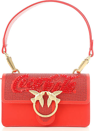 Pinko Shoulder Bag for Women On Sale, Coca Cola, Paprika Red, satin, 2017, one size