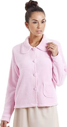 Camille Womens Soft Button and Zip Bed Jackets and Designs 22/24 Pink