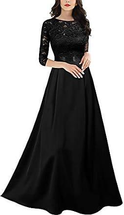 schwarzes abendkleid mit ärmeln