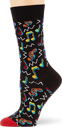 Happy Socks Womens City Jazz Sock, Black (Black 930), 4-7 (Size:36-40)