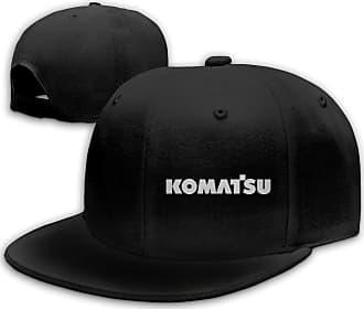 Not Applicable Clothing Komatsu Logo Unisex Caps Fashion Flat Top Hat Adjustable Baseball Cap Suitable for Any Season Black