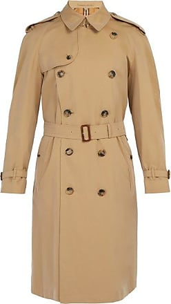 Burberry Westminster Double-breasted Gabardine Trench Coat - Mens - Beige