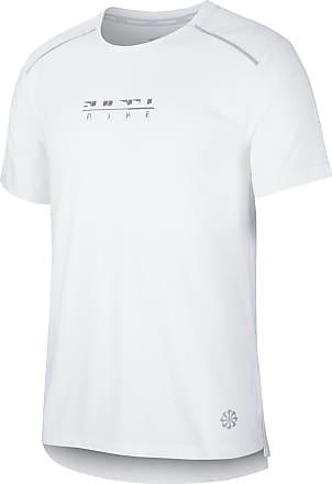 Nike Rise 365 Funktionsshirt Herren in white-reflective silv, Größe XL
