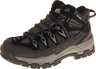 Mens NORTHWEST Leather Walking Hiking Waterproof Ankle Boots Trek Country Shoes