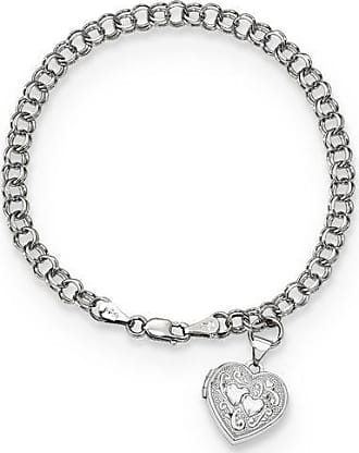10kt White Gold Diamond Accent Love Arrow Charm Leather Cord and Chain Bolo Bracelet
