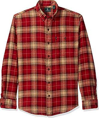 879894cfff G.H. Bass & Co. Mens Fireside Flannels Long Sleeve Button Down Shirt,  Sundried Tomato