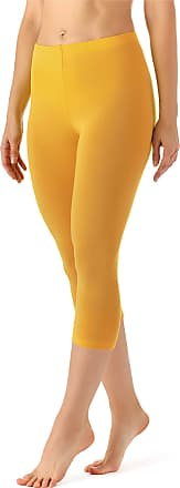 Merry Style Womens Leggings 3/4 MS10-144(Yellow, XL)