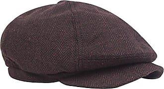 Demarkt Herren Baskenm/ütze Schirmm/ütze Schieberm/ütze Schl/ägerm/ütze aus Baumwolle Hutumfang von 58cm Blau