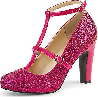 Pink Label Plateau Pumps Peep Toe Chloe 01 Lack creme Gr. 42