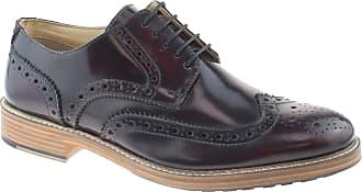 Roamers Mens Flexi Plain Leather Gibson Shoes