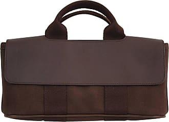 15d6a2424c5a Hermès Hermes Mini Valparaiso Brown Canvas And Leather Bag