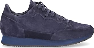 Philippe Model Low-Top Sneakers PARADIS suede Logo blue