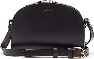 A.P.C. Half-moon Mini Smooth-leather Cross-body Bag - Womens - Black