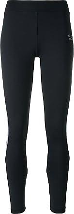 Emporio Armani logo detail leggings - Black