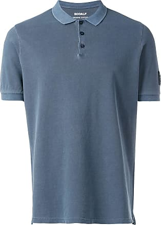 Ecoalf Camisa polo com patch de logo - Azul