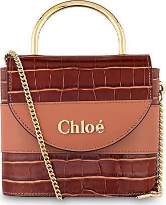 Chloé Handtasche ABY LOCK SMALL - CHESTNUT BROWN