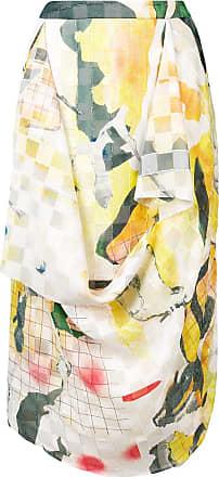 Hussein Chalayan Gonna drappeggiata con stampa - Di colore giallo